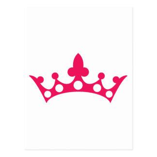 Pink Princess Tiara Postcard