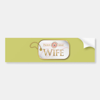 Pink Proud Army Wife Bumper Sticker