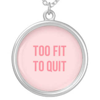 Pink Prove Inspirational Entrepreneur Quotes Bold Silver Plated Necklace