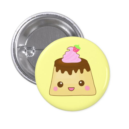 pink pudding cute! pinback button