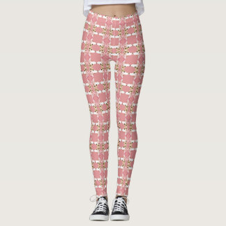 Pink Puddles of Poodles Leggings