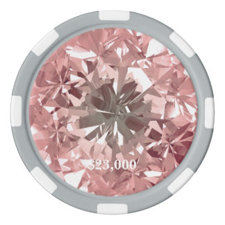 Pink Puerto Madero Filter Diamond Gem Stone Poker Chips