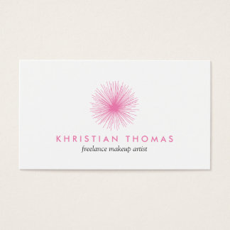 Pink Puff Logo for Freelance Makeup Artist Business Card