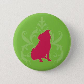 Pink Pug 6 Cm Round Badge