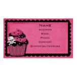 pink punk_cupcake business card