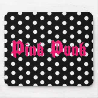 Pink Punk Polka Dot Mousepad