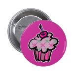 pink punk skull crossbones cupcake buttons
