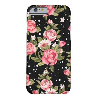 Pink Puny Peonies Barely There iPhone 6 Case