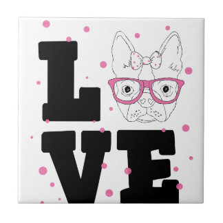 Pink Puppy Love Tile