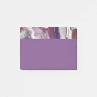 Pink & Purple Abstract Art Post it pad Post-it Notes