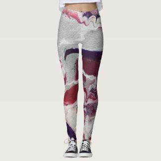 Pink & Purple Abstract Leggings