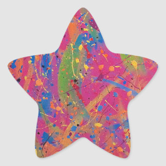 Pink/Purple Abstract Star Sticker