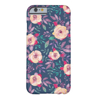 Pink Purple and Blue Floral pattern Barely There iPhone 6 Case