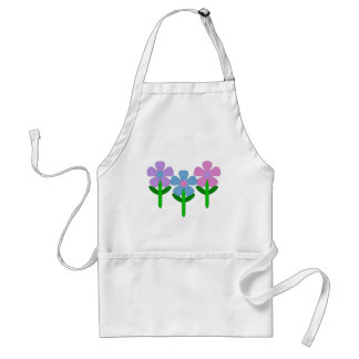 Pink Purple and Blue Flowers Standard Apron