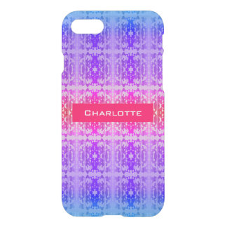 Pink, Purple and Blue Fractal Monogram iPhone 8/7 Case