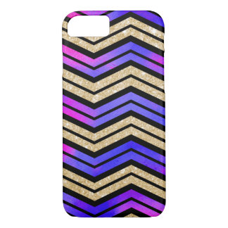 Pink, Purple and Gold Chevron iPhone 8/7 Case