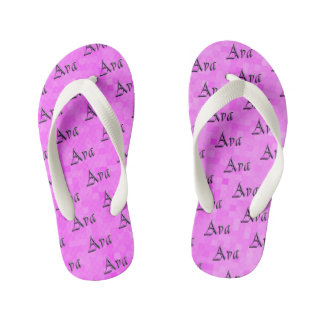 Pink Purple Ava Name Logo, Kid's Thongs