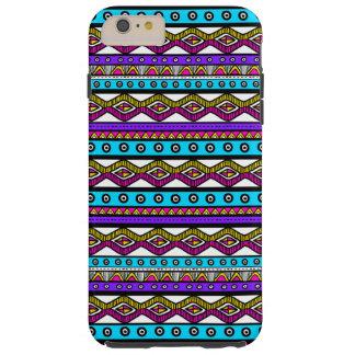 Pink Purple Aztec Pattern Tough iPhone 6 Plus Case