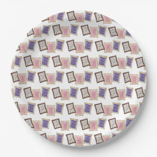 Pink Purple Bake Sale Toaster Pastry Breakfast Paper Plate