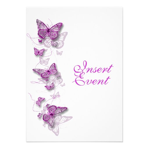 pink purple birthday engagement wedding invite