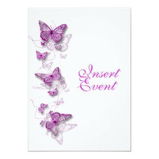 "pink purple birthday engagement wedding 5"" x 7"" invitation card"