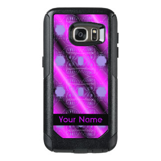 Pink Purple Black Abstract Design OtterBox Samsung Galaxy S7 Case