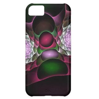 Pink Purple Black Bubbles and Eyes Fractal Art iPhone 5C Case