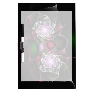 Pink Purple Black Bubbles and Eyes Fractal Art Dry Erase White Board