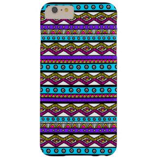 Pink Purple Blue Aztec Pattern iPhone 6 Plus Case