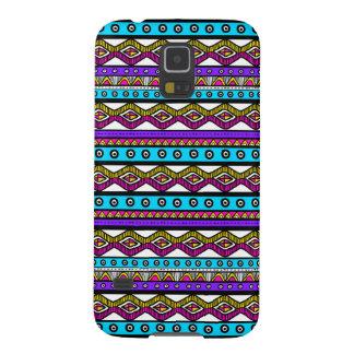Pink Purple Blue Girly Aztec Pattern Galaxy 5 Case