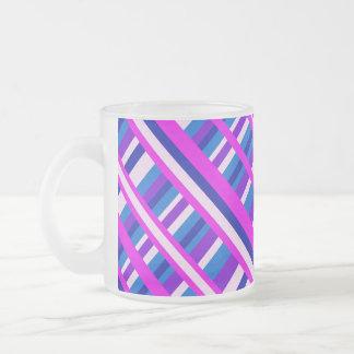 Pink Purple Blue Plaid Diagonal Mug