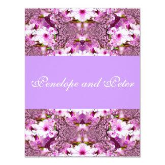 Pink/Purple Bride Invite Flowers Elegant Wedding