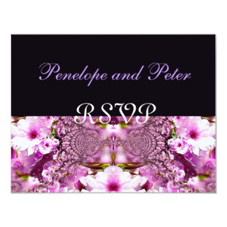 Pink Purple Cherry Blossoms Floral Save the Date 11 Cm X 14 Cm Invitation Card
