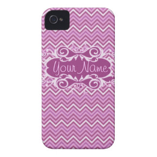 Pink & Purple Chevron iPhone 4/4s Case-mate iPhone 4 Cover