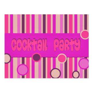 pink purple cocktail party postcard