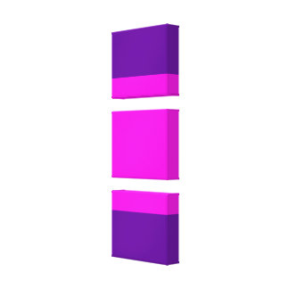 Pink purple color block gallery wrap canvas