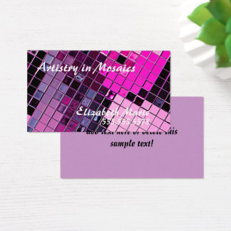 Pink Purple Cosmetic Artist Business Card
