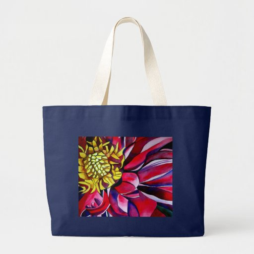 Pink purple Dahlia flower watercolor abstract art Tote Bag