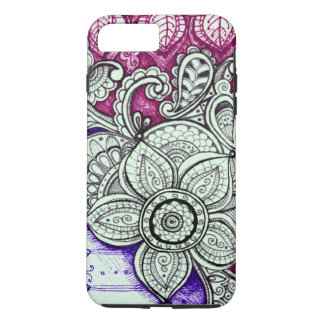 Pink Purple Ethnic Exotic Moroccan Indian Mandala iPhone 8 Plus/7 Plus Case