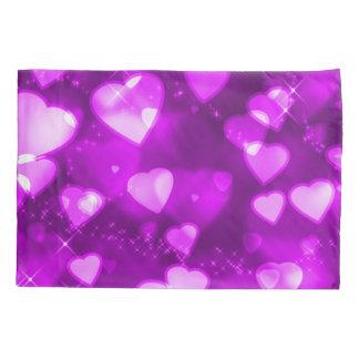 Pink & Purple Faerie Sparkle Hearts Airbrush Art Pillowcase
