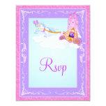 Pink, Purple Fantasy Fairy Tale Wedding Reply Card