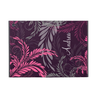 Pink Purple Floral Swirl Pattern iPad Mini Cover