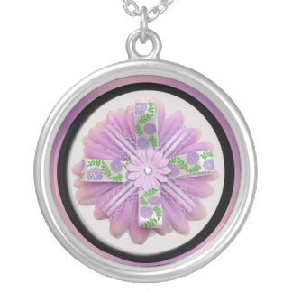 Pink & Purple Flower Custom Necklace