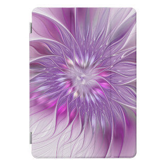 Pink Purple Flower Passion Abstract Fractal Art iPad Pro Cover
