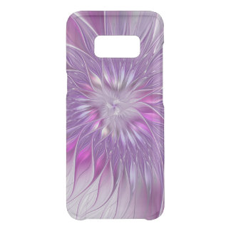 Pink Purple Flower Passion Abstract Fractal Art Uncommon Samsung Galaxy S8 Case