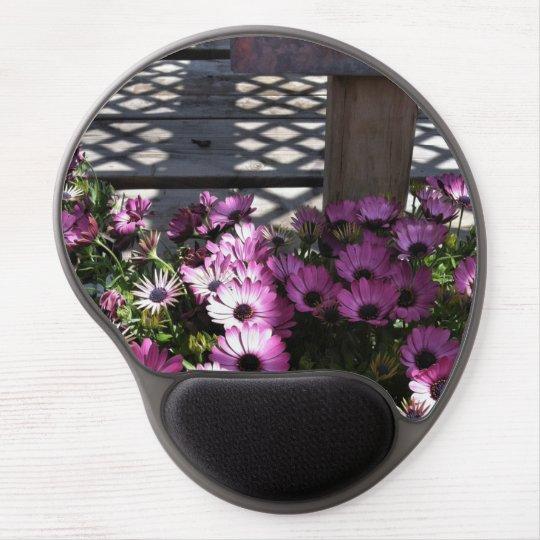 Pink Purple Flowers Gel Mouse Pad