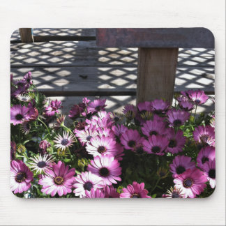 Pink Purple Flowers Mouse Pad