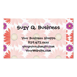 Pink Purple Gerber Daisy Flowers Floral Pattern Pack Of Standard Business Cards