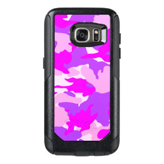 Pink Purple Girly Camo Military Camouflage Pattern OtterBox Samsung Galaxy S7 Case