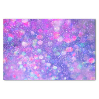 "Pink Purple Glitter Glam 10"" X 15"" Tissue Paper"